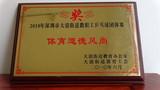 2010年大浪街道教职工乒乓球团体赛体育道德风尚奖